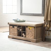 Belham Living Dempsey Entryway Storage Bench - Driftwood