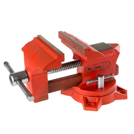 Vice Workshop Bench Clamp – Durable Bolt Down Locking Swivel Base with Anvil for Auto Repair, Woodworking, Pipe Work, Gunsmith by Stalwart