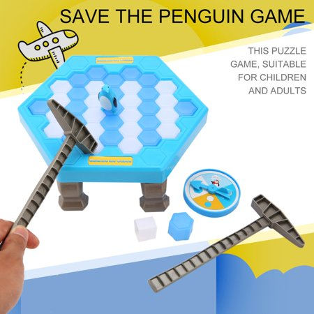 New Interesting Game Ice Breaking Knock Save The Penguin Great Family Kids Adults Game Toys Gifts Puzzle Table Desktop Game - image 9 of 9