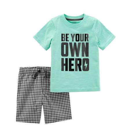Toddler Boy T-shirt & Shorts, 2pc Outfit Set - Santa Outfits For Men