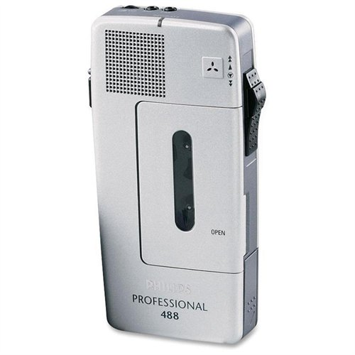 Philips Pocket Memo 488 Slide Switch Minicassette Portable Voice Recorder (LFH048800B) by Philips