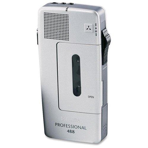 Philips Pocket Memo 488 Slide Switch Minicassette Portable Voice Recorder (LFH048800B)