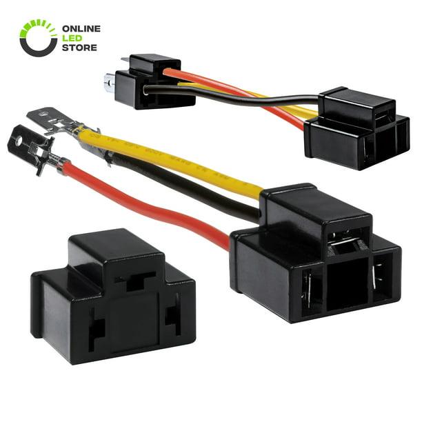 2pc H4 9003 Hb2 Headlight Socket Converter Kit For H4652 H4656 H4666 H6545 Plug And Play Head Light Wiring Harness Connector Plug Walmart Com Walmart Com