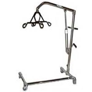 "Joerns Healthcare C-CB-L2 Chrome Hoyer 6 Point Hydraulic Lifter with ""C-base"""