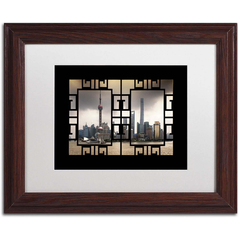 "Trademark Fine Art ""Pearl Tower V"" Canvas Art by Philippe Hugonnard, White Matte, Wood Frame"