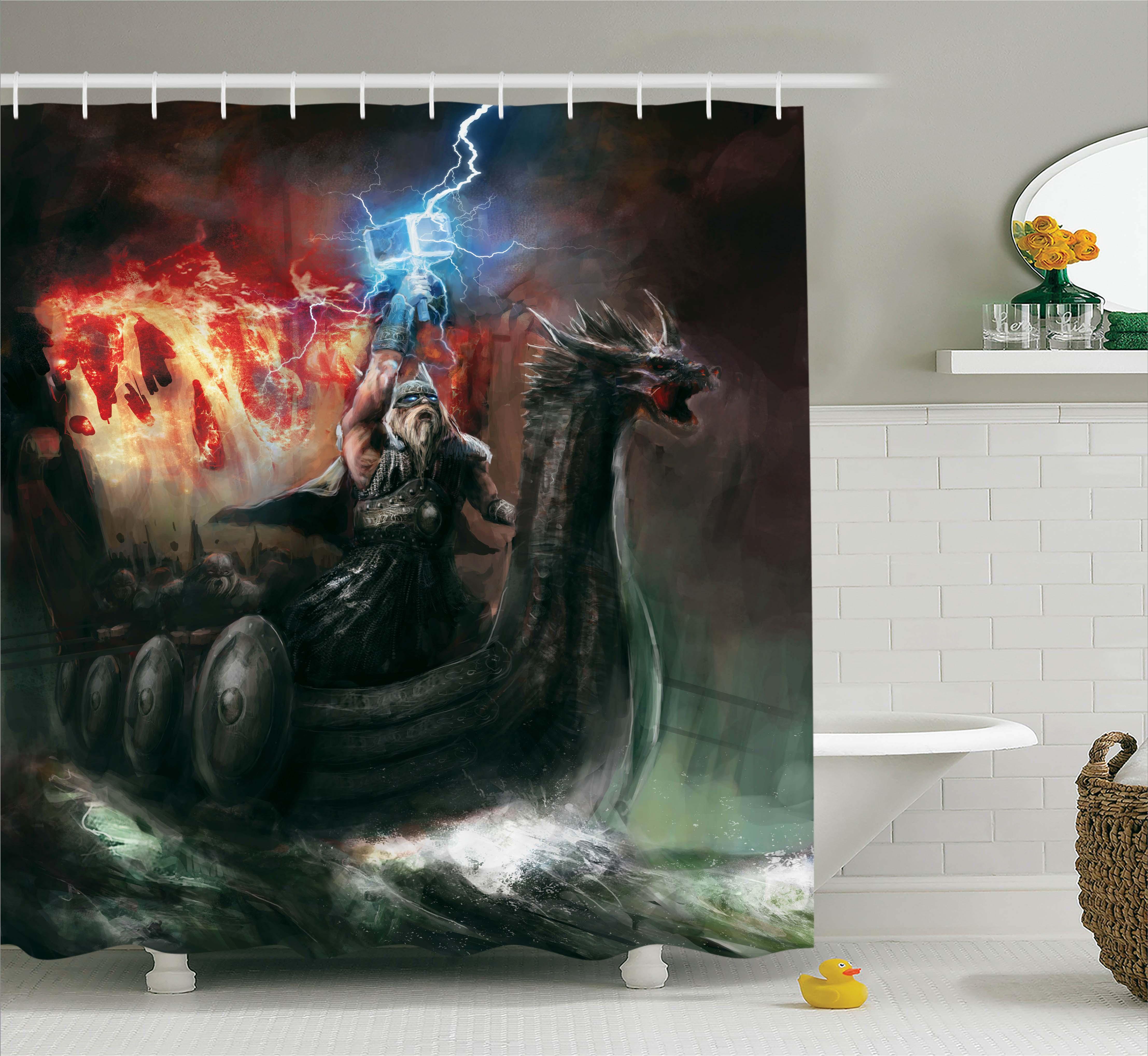 Lake House Decor  Imaginary Wrath Of The God Vikings Roya...