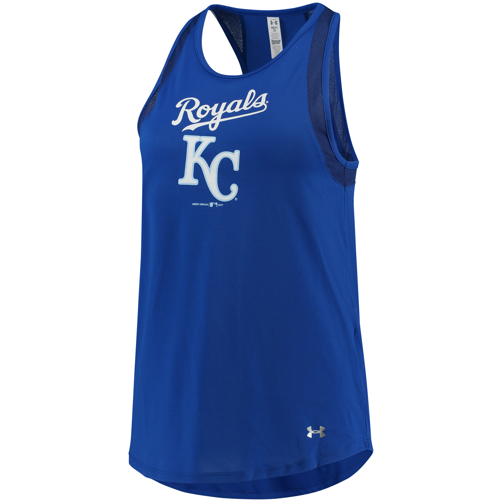Women's Under Armour Royal Kansas City Royals Pointelle Mesh Performance Tank Top by Gear For Sports/Under Armour