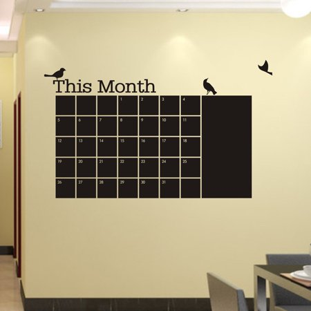 58X95 Month Plan Bird Chalkboard Memo Blackboard Vinyl Wall Sticker New