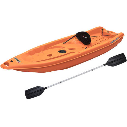 Sun Dolphin Camino 8 SS Recreational Kayak Ocean, Paddle Included by KL Outdoor