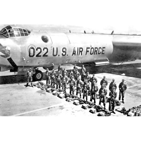 LAMINATED POSTER Crew of a 72d Strategic Reconnaissance Wing RB-36 Peacemaker at Ramey AFB, Puerto Rico, about 1954 Poster Print 24 x 36