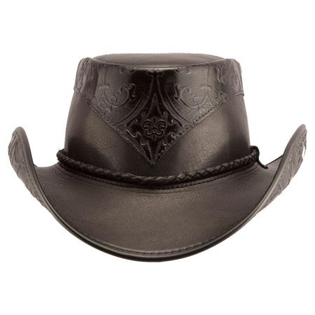 b1c57565a New American Hat Makers Falcon Western Leather Cowboy Hat