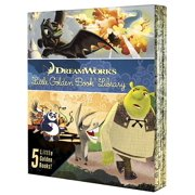 DreamWorks Little Golden Book Library 5-Book Boxed set : How to Train Your Dragon; Kung Fu Panda; Madagascar; Puss In Boots; Shrek