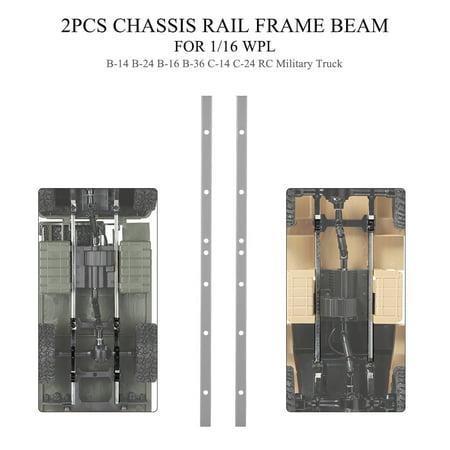 2PCS Truck Chassis Rail Frame Beam for 1/16 WPL B-14 B-24 B-16 B-36 C-14 C-24 RC Car