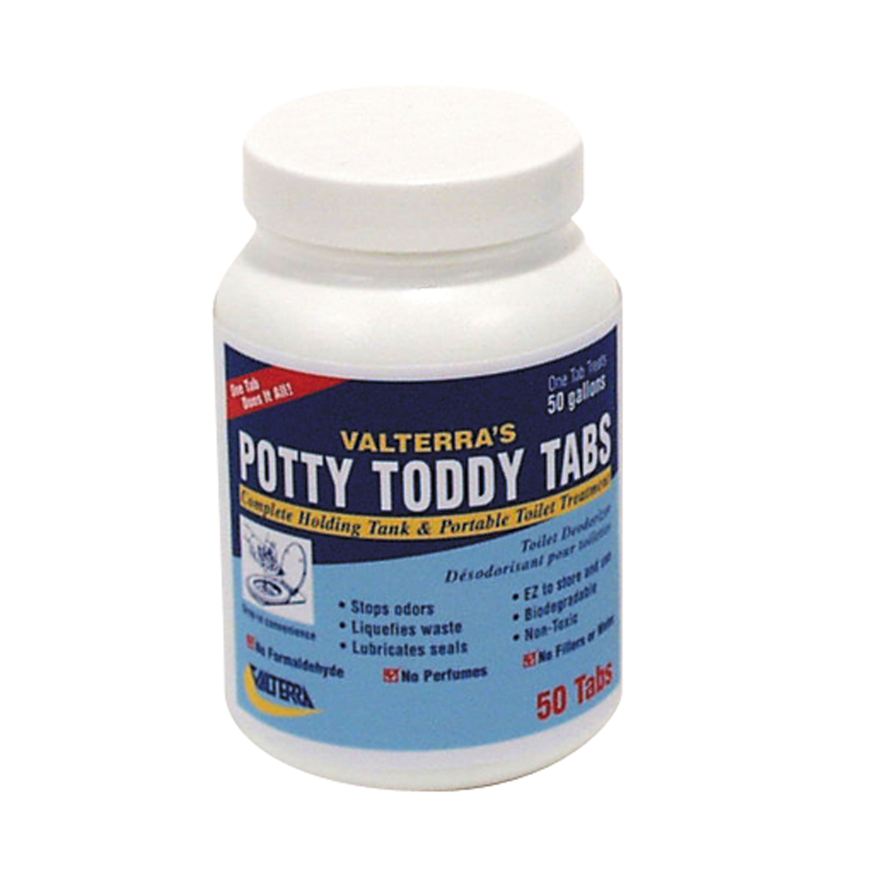Valterra Q5004 Potty Toddy Tabs - 50/Bottle