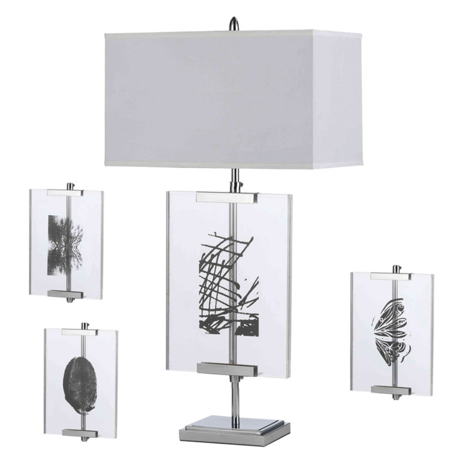 AF Lighting Easel Table Lamp with Interchange Panels