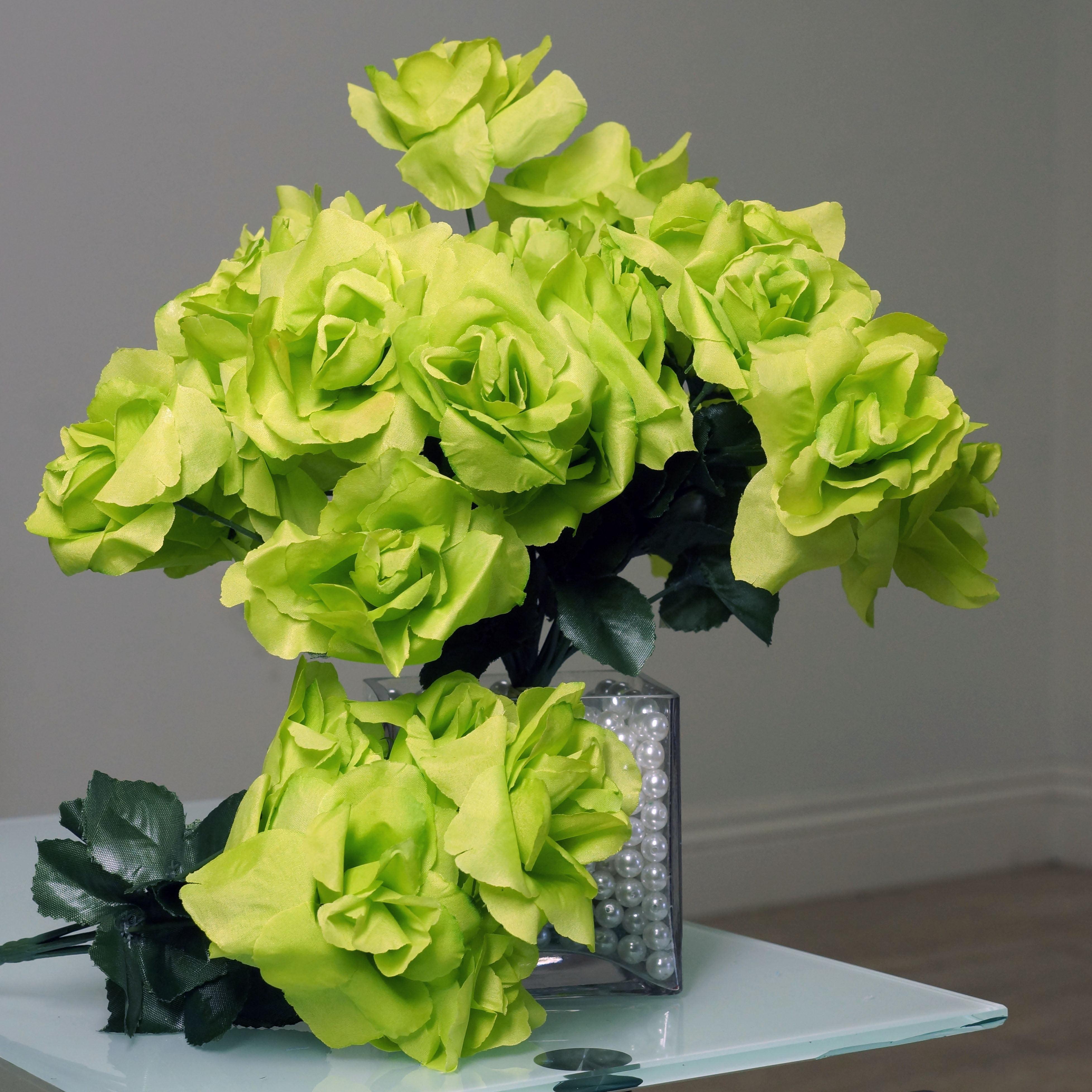 BalsaCircle 84 Silk Open Roses Wedding Flowers Bouquets - Walmart.com