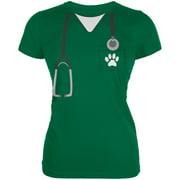 halloween vet veterinarian scrubs costume kelly green juniors soft t-shirt
