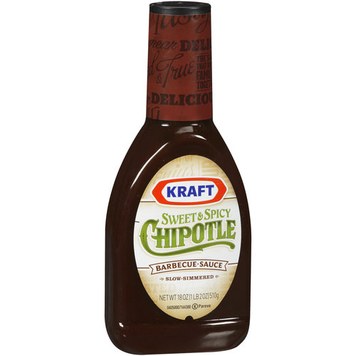 Kraft Sweet & Spicy Chipotle Barbecue Sauce, 18 oz