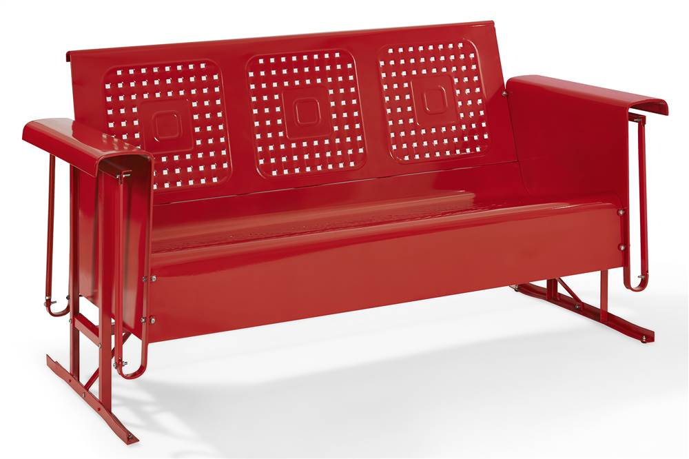 Charming Crosley Bates Sofa Glider In Red