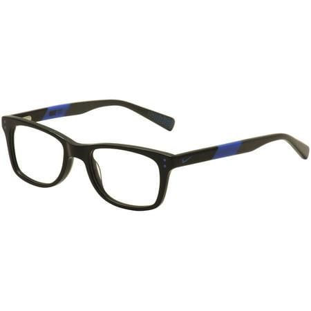 Nike Kids Youth Eyeglasses 5538 013 Black/Blue/Grey Full Rim Optical Frame (Branded Optical Frames)