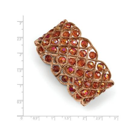 1928 - Cuivre tons Perles Cuivre acrylique Bracelet extensible - image 1 de 2