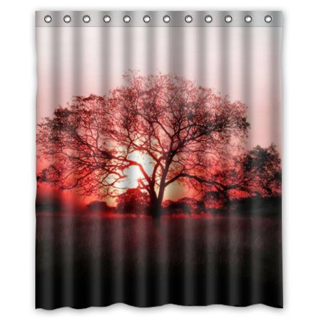 GreenDecor Best Tree Of Life Waterproof Shower Curtain Set with Hooks Bathroom Accessories Size 60x72