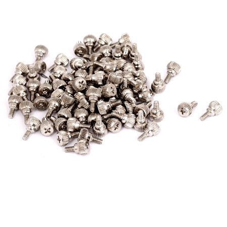 Limited Offer 100pcs M3.5x6mm Male Thread Nickel Plated Computer Desktop PC Case Thumb Screws Before Special Offer Ends