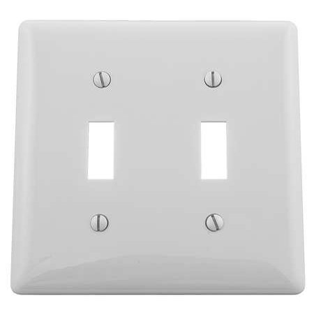 HUBBELL WIRING DEVICE-KELLEMS NP2W Toggle Switch Wall Plate,2 (2 Gang One Way Switch Wiring Diagram)