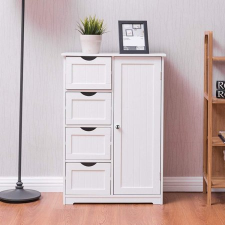 Ktaxon Storage Cabinet 4 Drawers Chest Dresser Collection Home Furniure White