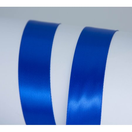 Offray Ribbon, Royal Blue 7/8 inch Single Face Satin Polyester Ribbon for Sewing, Crafts, and Gifting, 18 feet, 1 Each