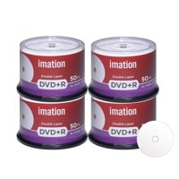 200 Pack Imation DVD+R DL Dual Layer 8X 8.5GB DVD Plus R Double Layer White Inkjet Hub Printable Blank Media Data Movie Game Recordable Disc