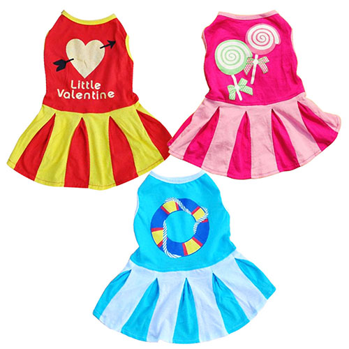 Girl12Queen Love Heart Big Candy Circle Pattern Design Puppy Dog Doggie Apparel Pet Supply