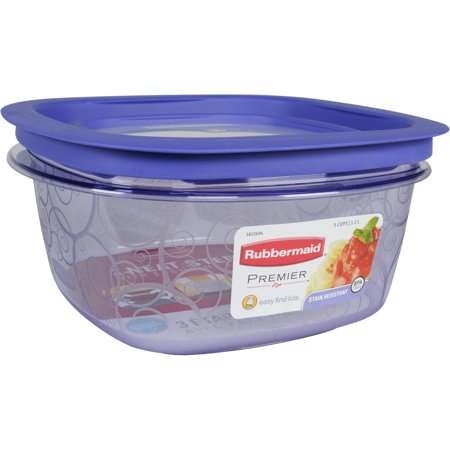 Rubbermaid Premier Easy Find Lids 5 Cup Food Storage Containers 2 Count