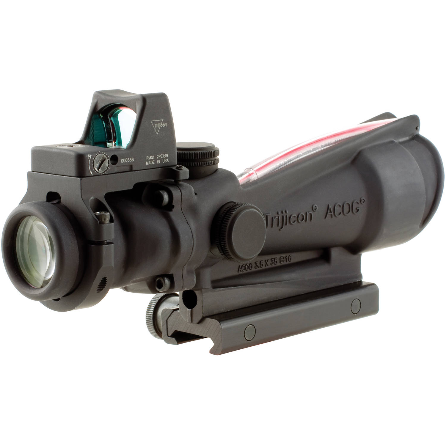 Trijicon ACOG Rifle Scope, 3.5X35, Red Crosshair Reticle .223, Includes 4.0 MOA RMR, TA51 Mount, Matte by Trijicon