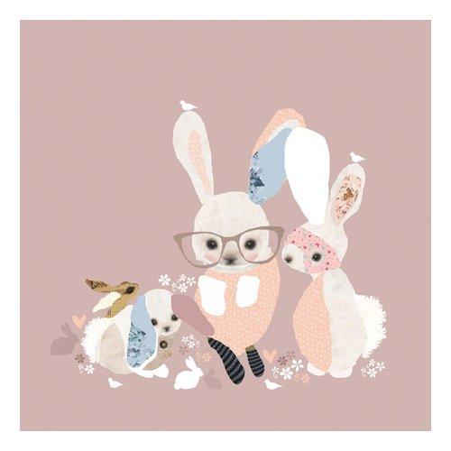 Oopsy Daisy Bunny Business Canvas Art