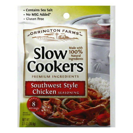 - Orrington Farms Southwest Style Chicken Slow Cookers Seasoning, 2.5 Oz (Pack of 12)