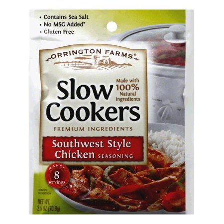 Orrington Farms Southwest Style Chicken Slow Cookers Seasoning, 2.5 Oz (Pack of 12) Orrington Farms Southwest Style Chicken Slow Cookers Seasoning, 2.5 Oz (Pack of 12)