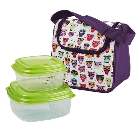 Fit Fresh Kids Morgan Insulated Lunch Bag Set With Reusable Containers And Ice Pack