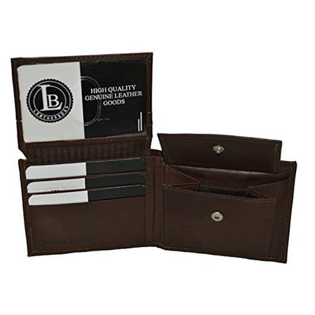 Boys Slim Compact Flap Id and Coin Pocket Bifold Wallet by Leatherboss ()