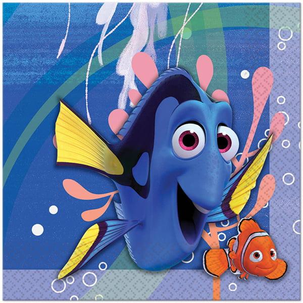 Finding Nemo Party Napkins Beverage Napkin 16 Count