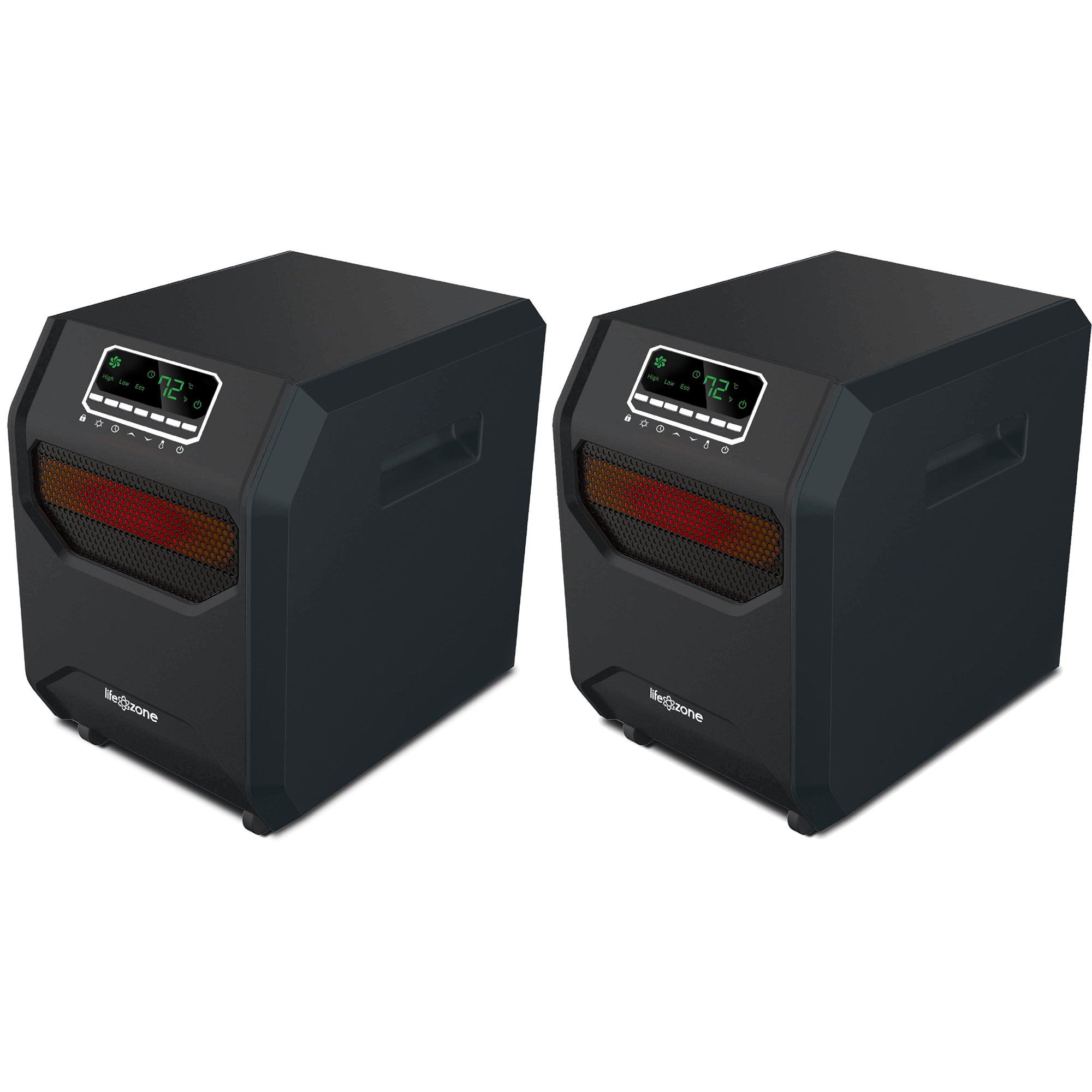 Lifesmart 4-Element Quartz Infrared Portable Electric Room Heaters (2 Pack)