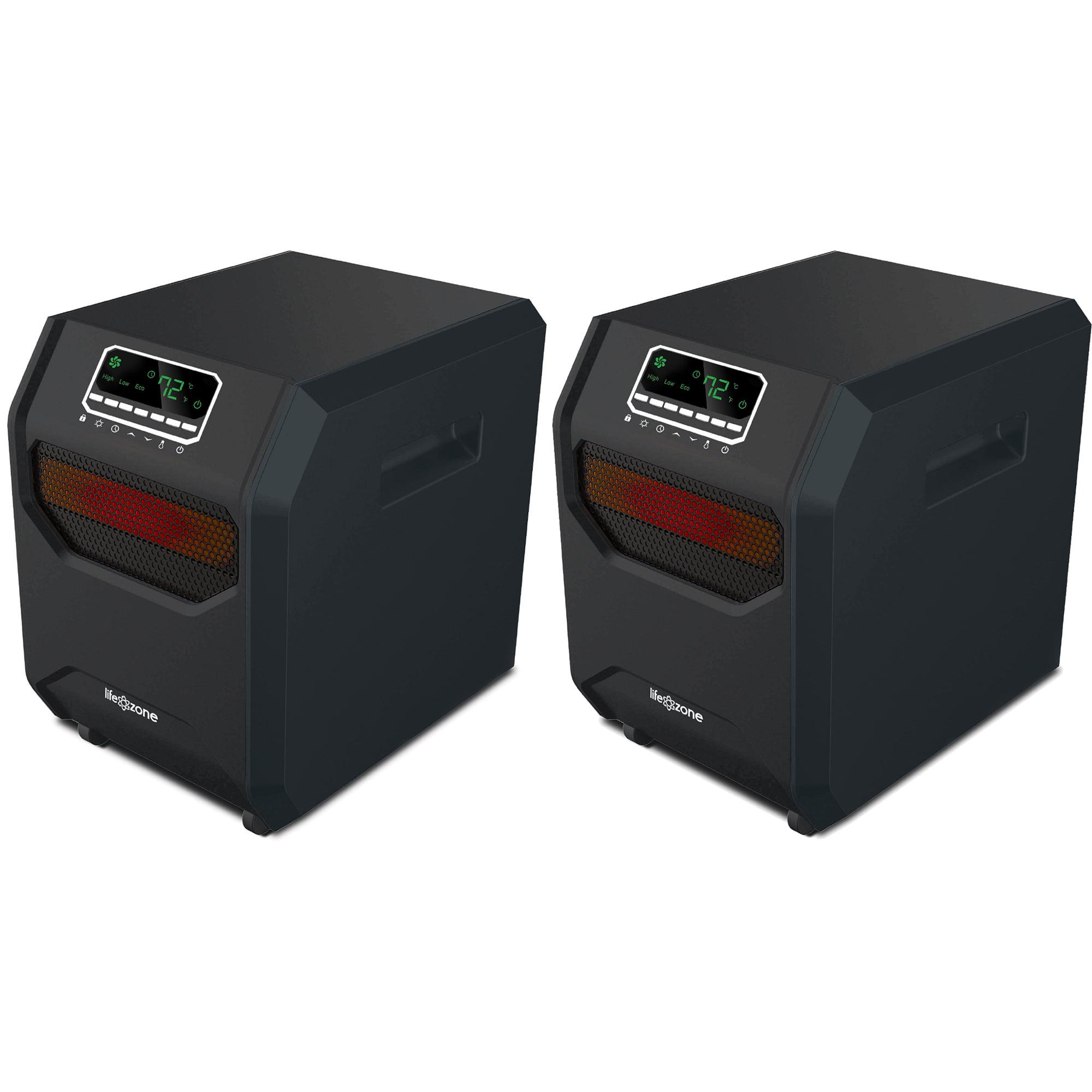 Lifesmart 4-Element Quartz Infrared Portable Electric Roo...