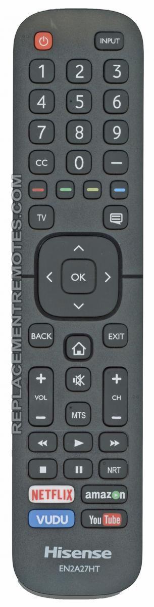 HISENSE EN2A27HT (p/n: EN2A27HT) TV Remote Control (refurbished)