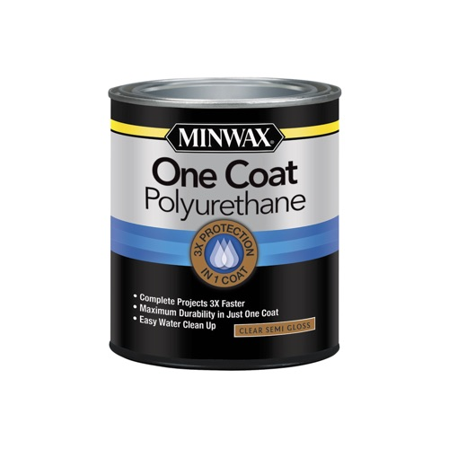 Minwax One Coat Polyurethane Semi-Gloss, 1-Qt