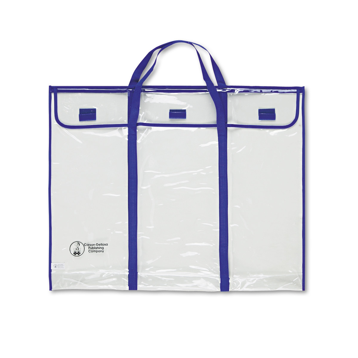 "Carson-Dellosa Bulletin Board Storage Bag, 30"" x 24"", Blue/Clear"