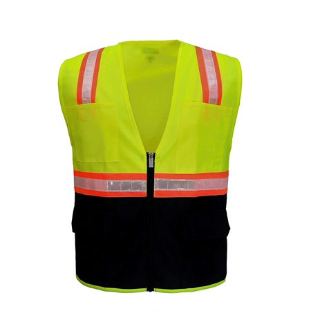 Safety Depot 5XL Reflective Vest with Pockets Standard Safety Vest