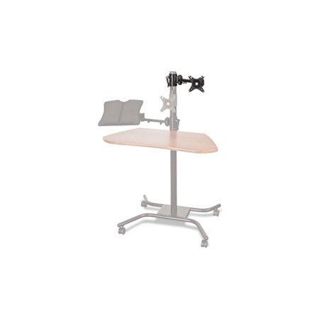 Balt WOW Optional Monitor Mount, 5h to 15 1/2h, Black 66642 Product SpecificationsGlobal Product Type: Desks-WorkstationsColor: BlackDepth Maximum: 12 Top Material: Metal,PlasticHeight Maximum: 4 1/2 For Use With: BALT WOW Flexi-Desk Mobile WorkstationQuantity: 1 eachSeries Name: BALT WOW SeriesPre-Consumer Recycled Content Percent: 0%Post-Consumer Recycled Content Percent: 0%Total Recycled Content Percent: 0%
