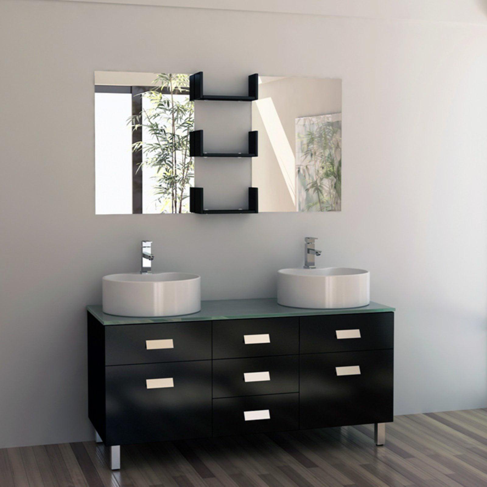 Design Element Dec350 Wellington 55 In Double Bathroom Vanity Set Walmart Com Walmart Com