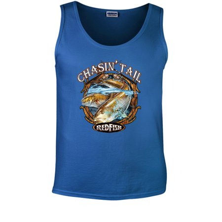 6963aad0b5e96 Chasin  Tail Redfish Fishing Tank Top Mens - Walmart.com