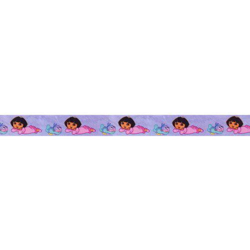 "Bedtime Dora the Explorer Satin Ribbon, 1"""